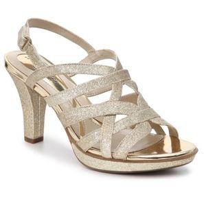 Naturalizer Delma gold glitter heeled sandal